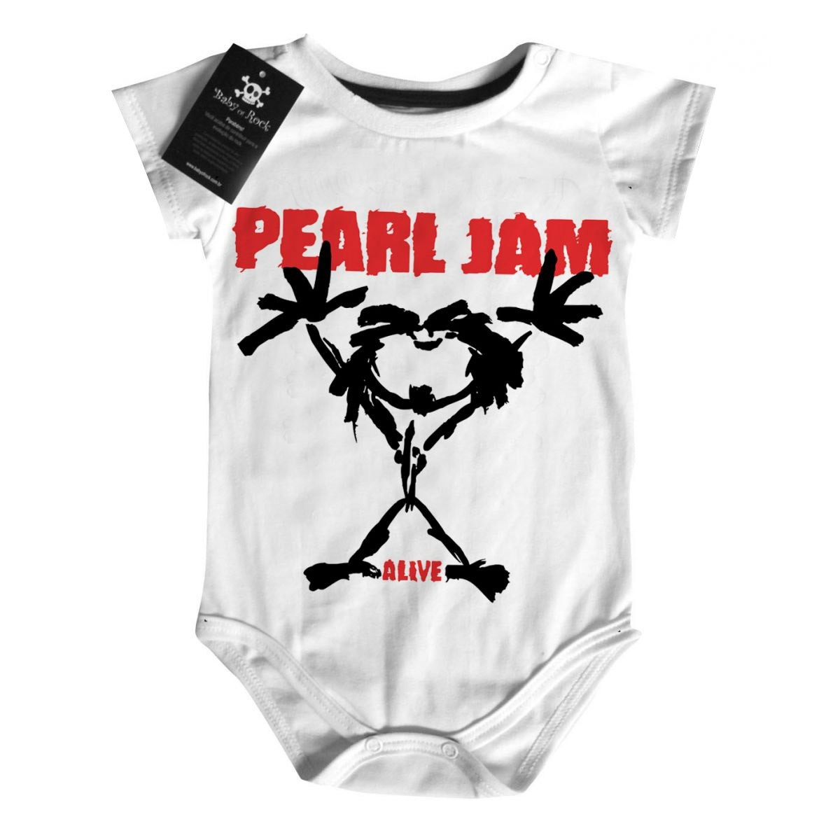 Body Rock Baby - Pearl Jam - White  - Baby Monster S/A