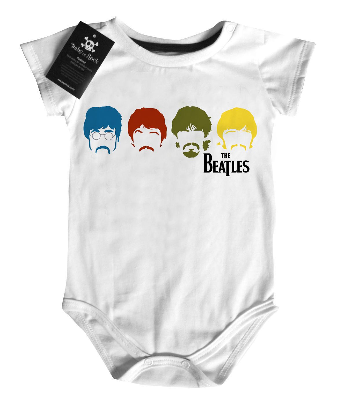 Body Rock - Beatles Colors - White  - Baby Monster - Body Bebe
