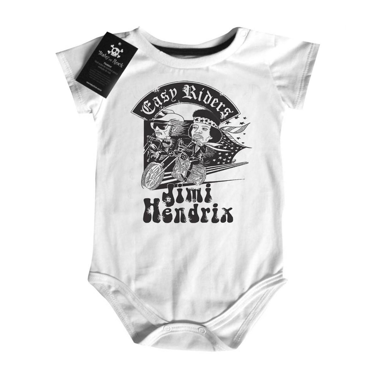 Body Rock Bebê Jimi Hendrix - Easy Riders - White  - Baby Monster - Body Bebe
