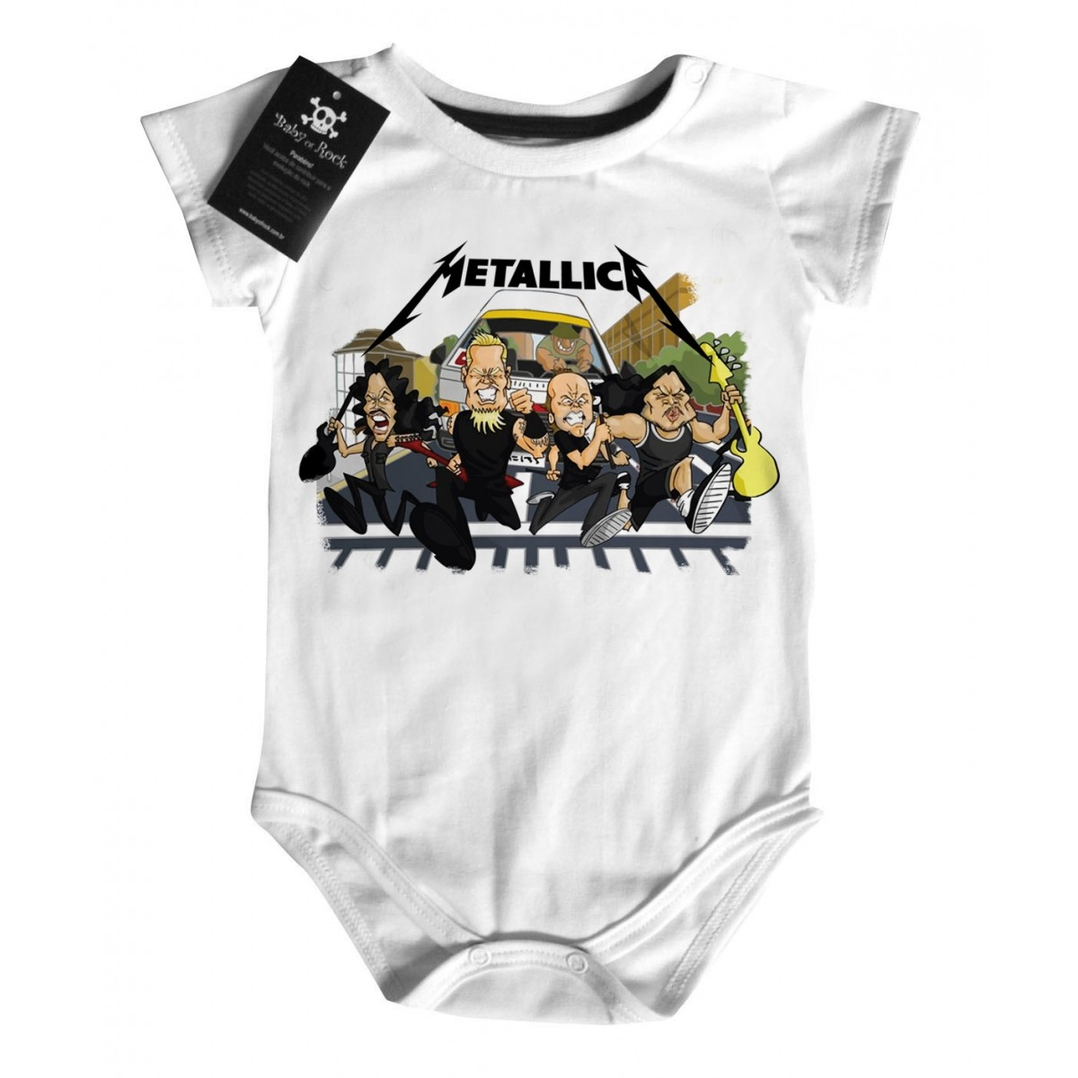 Body Rock Bebe Metallica - Run - White  - Baby Monster S/A
