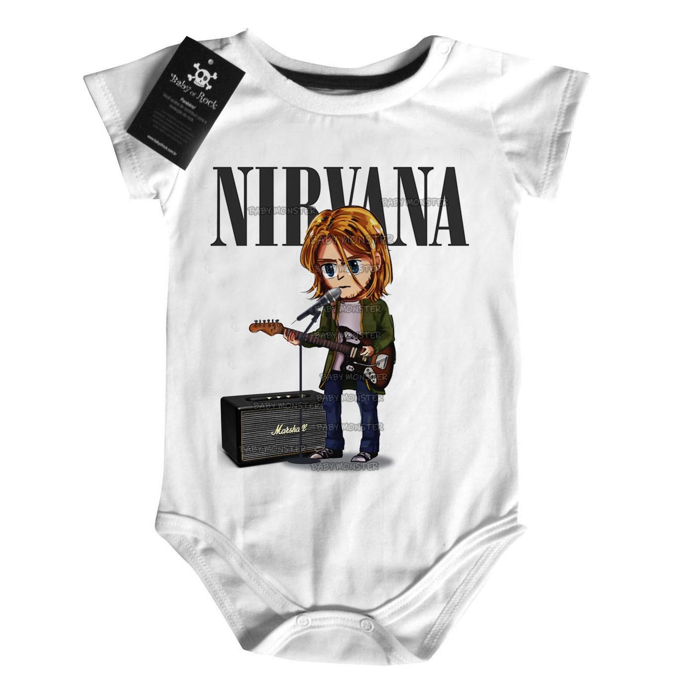 Body Rock Bebê  Nirvana Anime 3d - Estampa Animada  - Baby Monster S/A