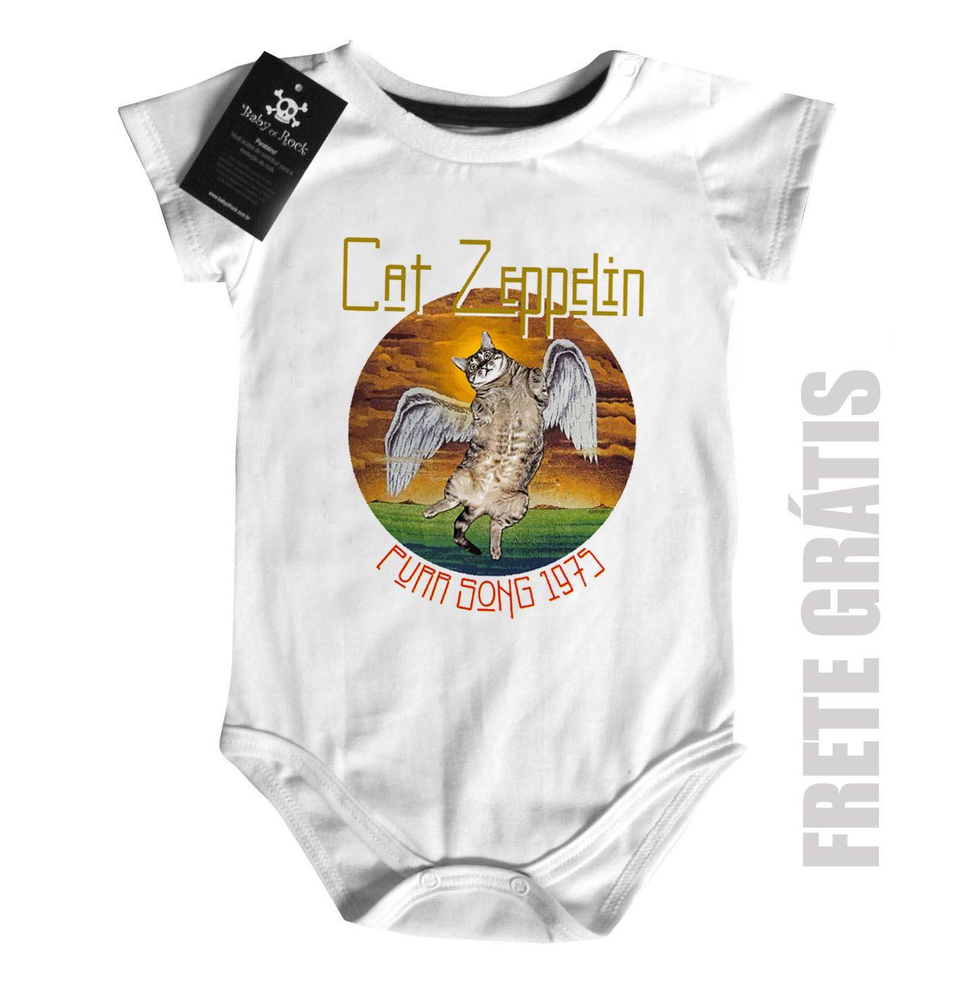 Body Rock  Cat Zeppelin Cute - White  - Baby Monster S/A