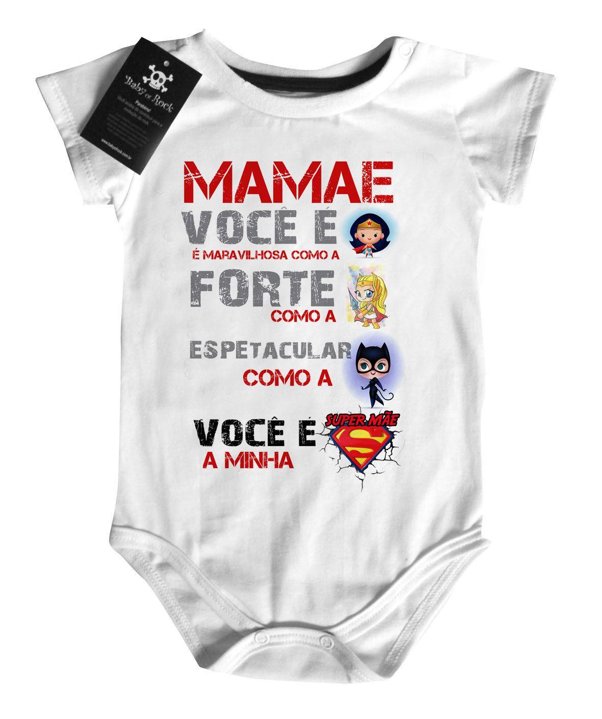 Body Rock Super Mãe Maravilha  - White  - Baby Monster S/A
