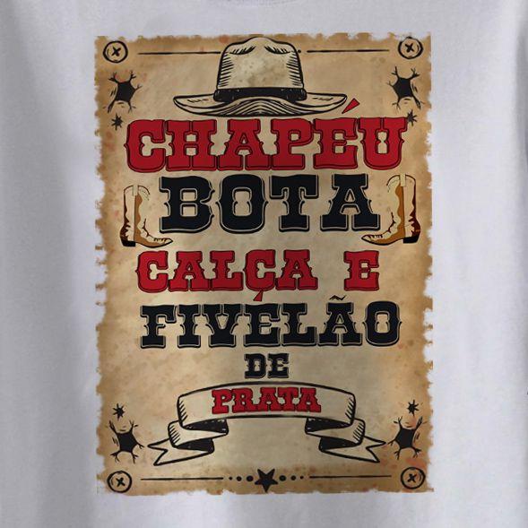 Body Sertanejo - Chapéu, Bota e Calça - White  - Baby Monster S/A