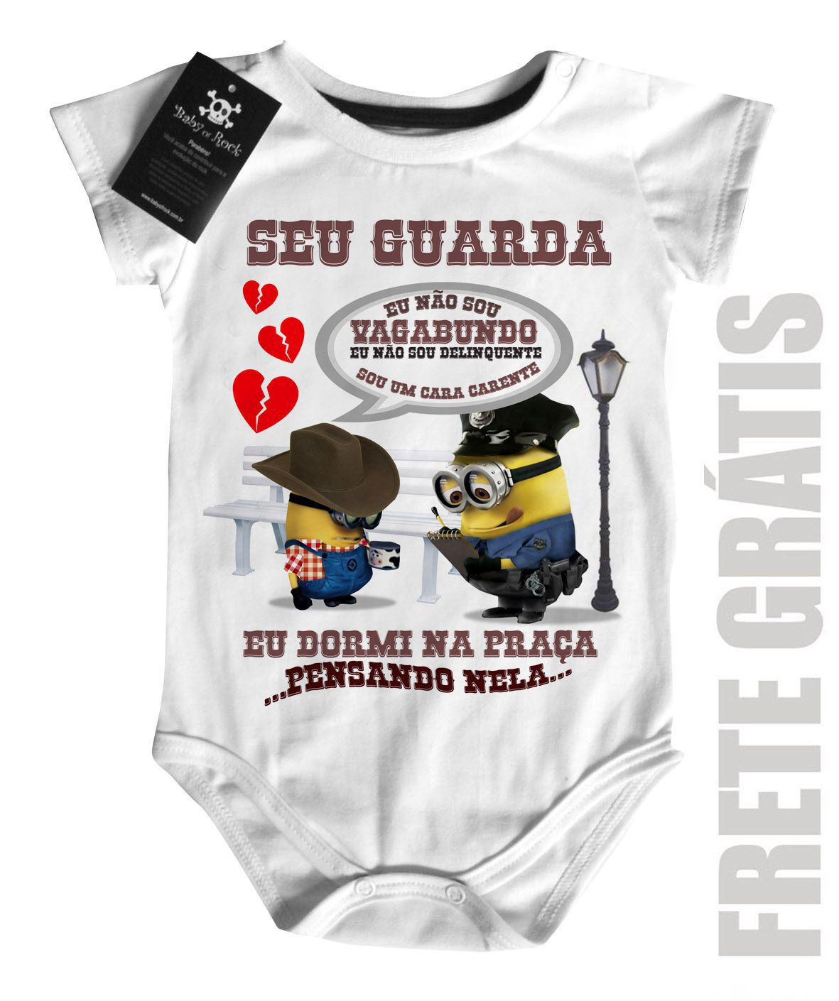 Body  Sertanejo Curto Bruno e Marrone Minions  - Baby Monster S/A