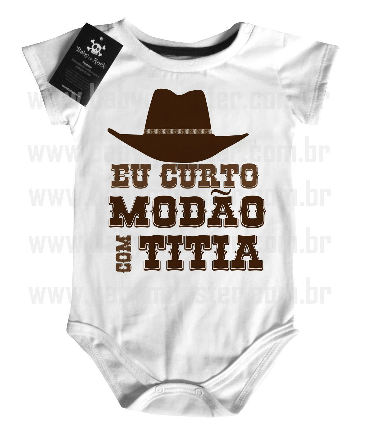 Body  Sertanejo Curto Modão com a Titia - White  - Baby Monster S/A