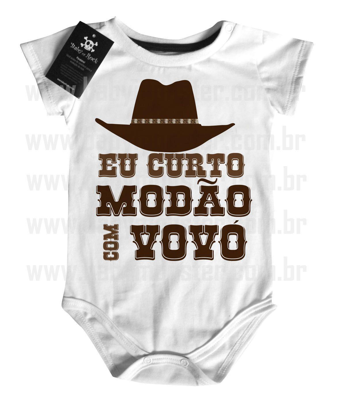 Body  Sertanejo Curto Modão com a Vovó- White  - Baby Monster S/A