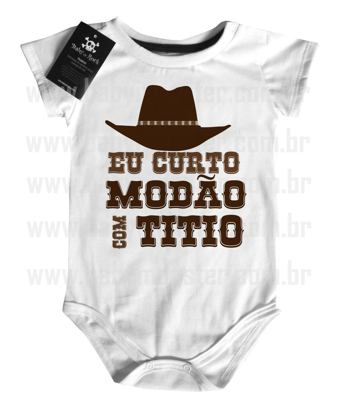 Body  Sertanejo Curto Modão com o Titio- White  - Baby Monster S/A