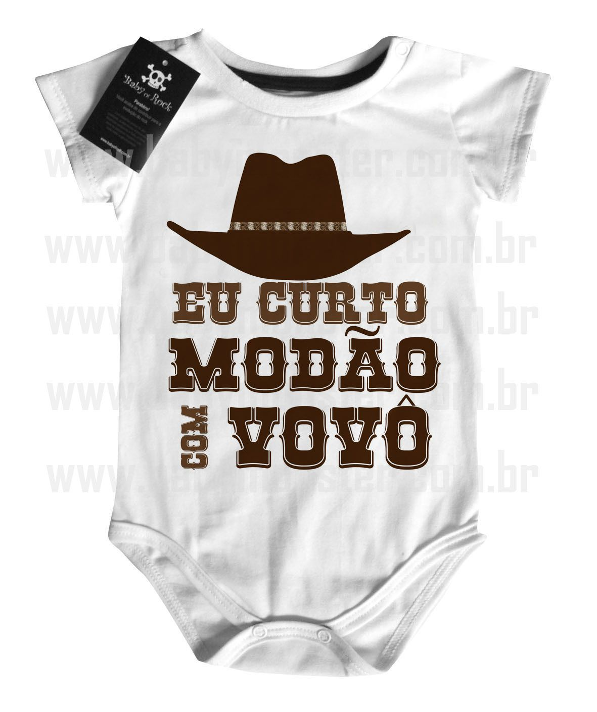 Body  Sertanejo Curto Modão com o Vovô- White  - Baby Monster S/A