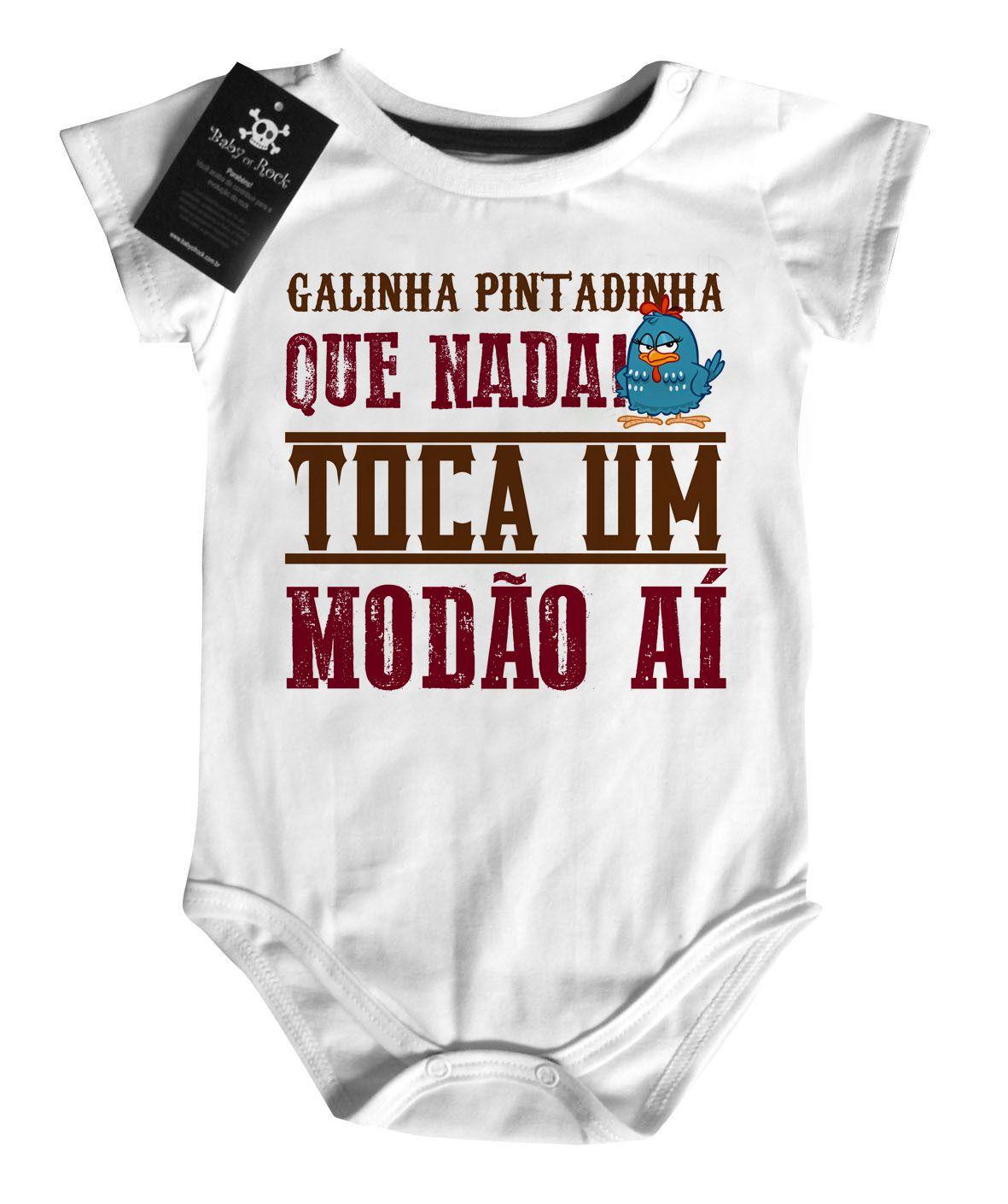 Body  Bebê Sertanejo  Pintadinha  - Baby Monster S/A