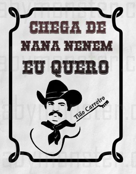 Body  Sertanejo Tião Carreiro- White  - Baby Monster - Body Bebe