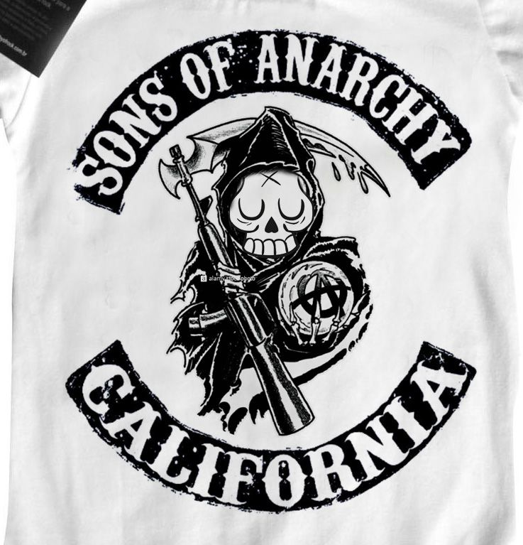 Body Sons of Anarchy Skull - White  - Baby Monster - Body Bebe