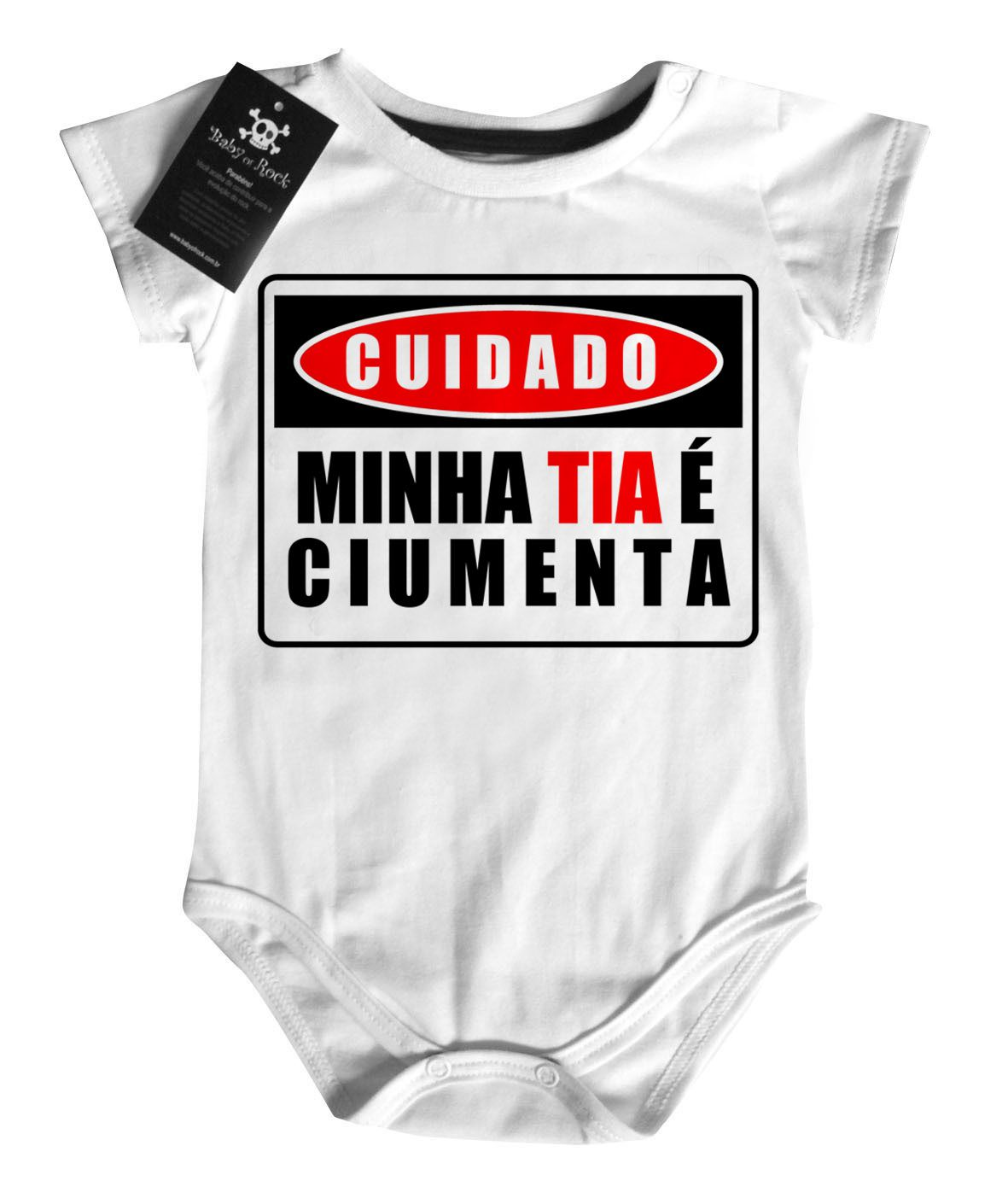 Body Titia Ciumenta - White  - Baby Monster S/A