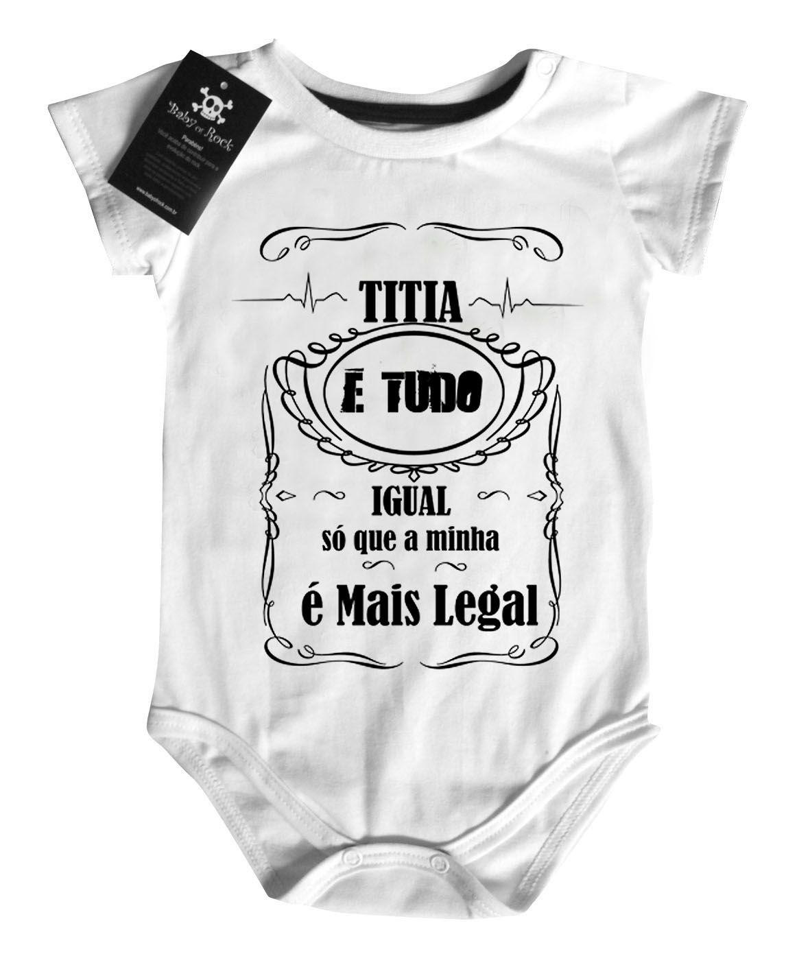 Body Titia e tudo igual  - White  - Baby Monster S/A