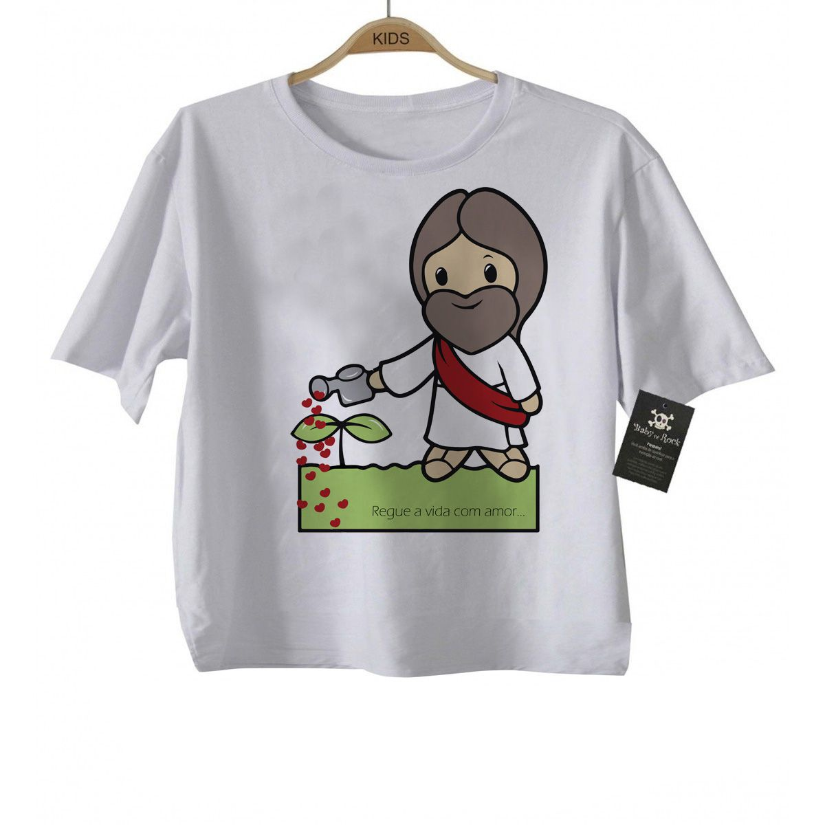 Camiseta  Bebe Católico Regue a Vida  - White  - Baby Monster S/A