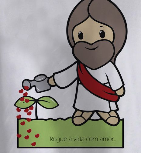 Camiseta  Bebe Católico Regue a Vida  - White  - Baby Monster - Body Bebe