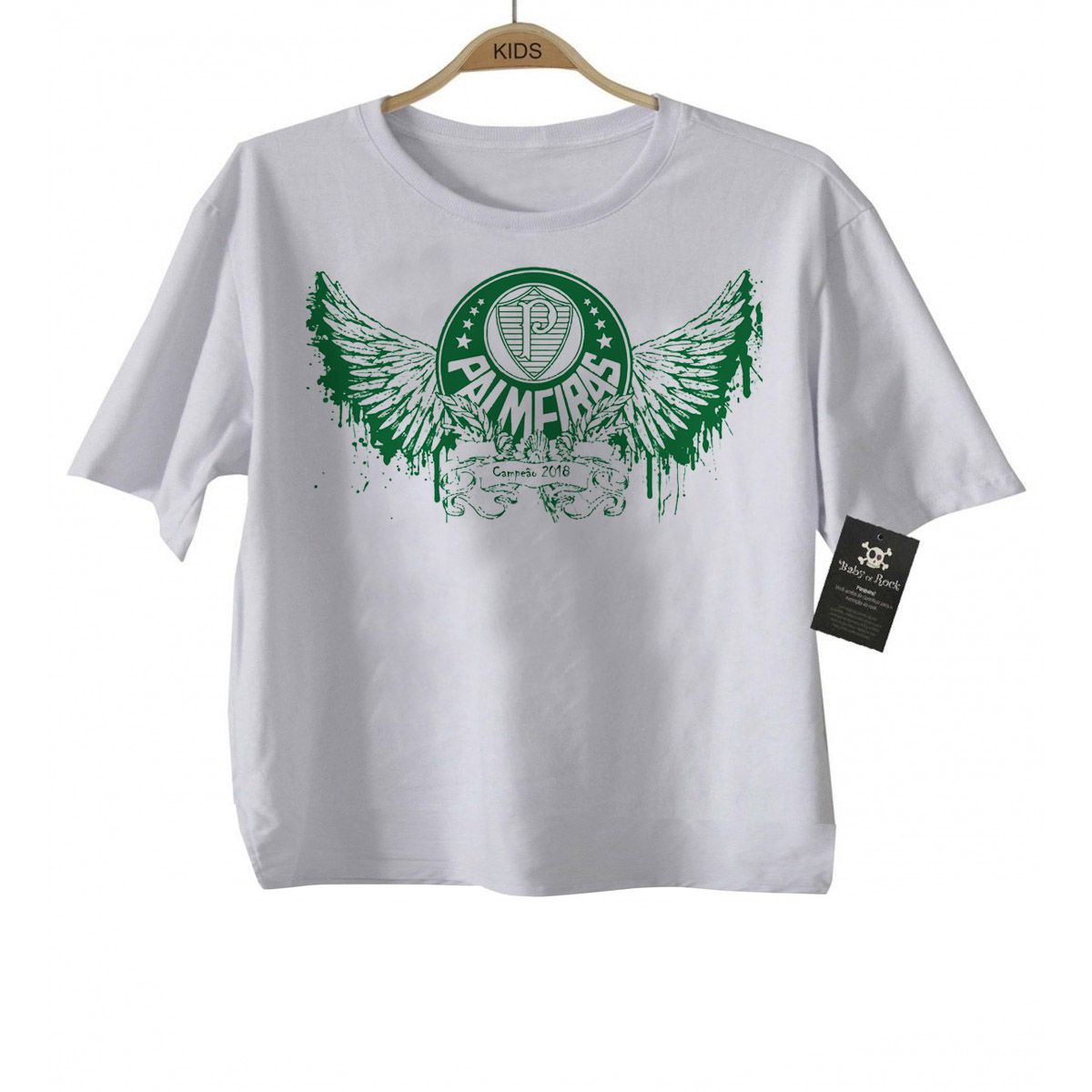 Camiseta Bebe  -  Palmeiras Fly  - White  - Baby Monster S/A