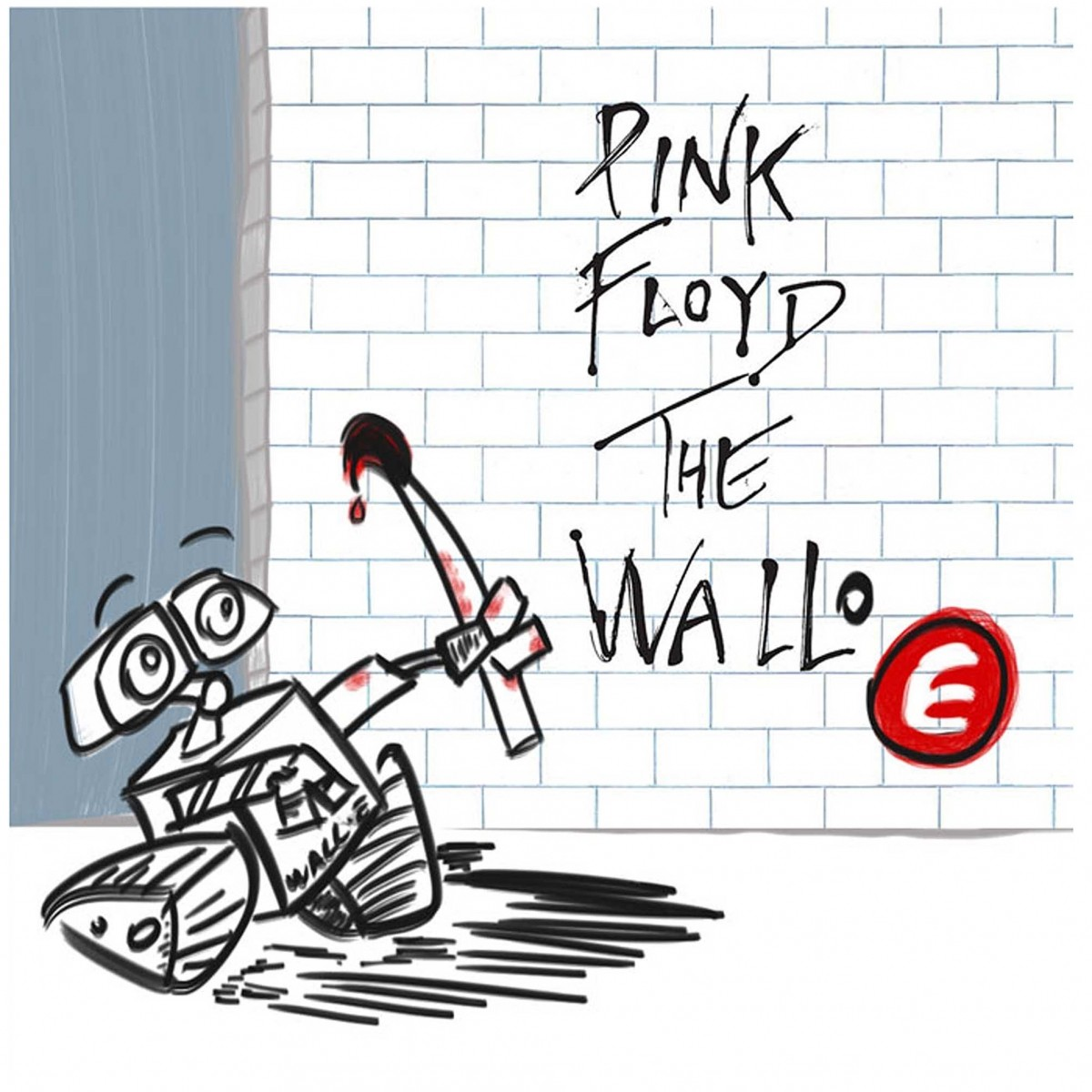Camiseta  Bebê Rock - The Wall-e Floyd - White  - Baby Monster S/A