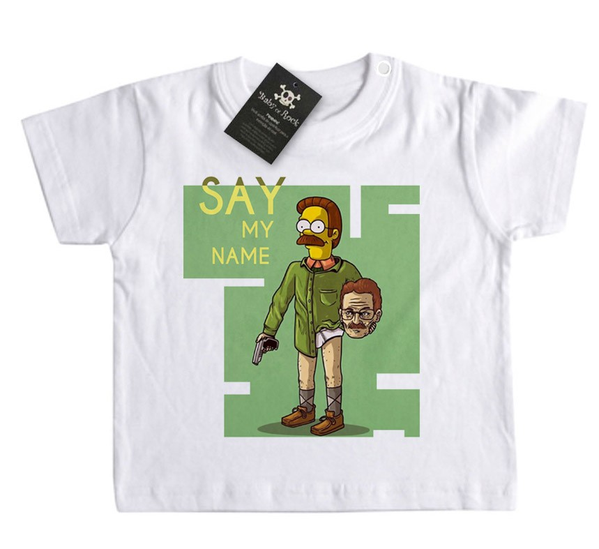 Camiseta Bebê Say my Name -  Simpsons - White  - Baby Monster S/A