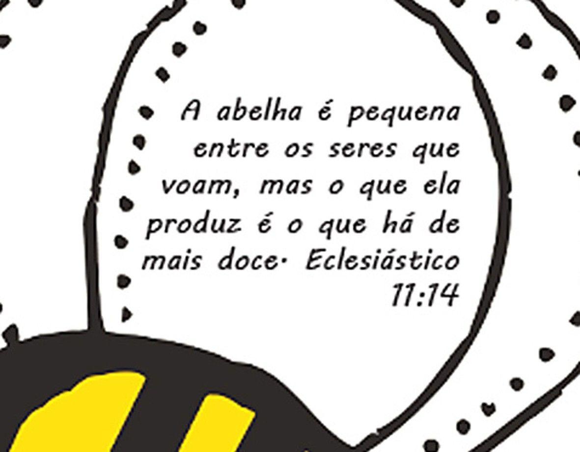 Camiseta  Cristã  Abelha de Deus - white  - Baby Monster - Body Bebe