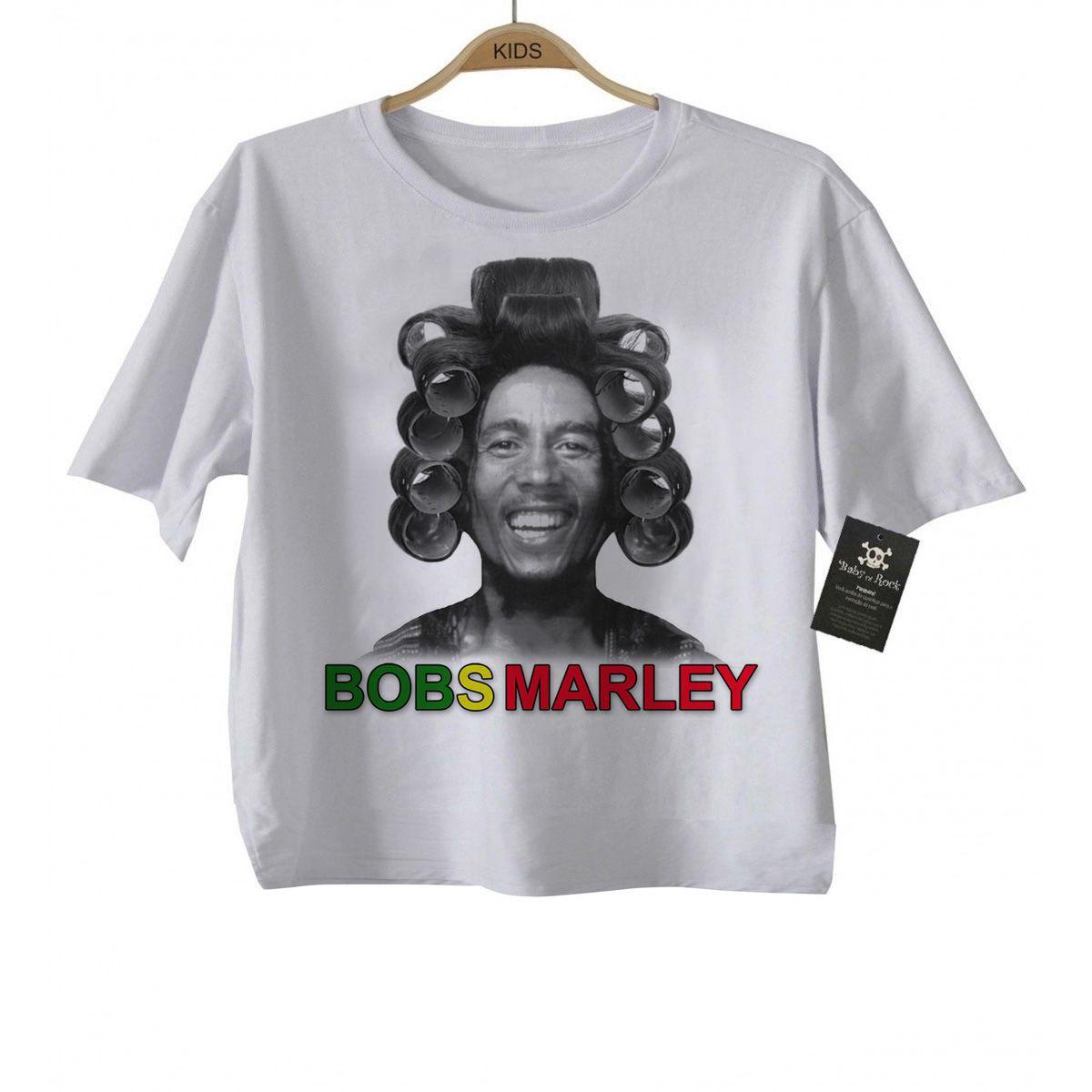 Camiseta Engraçada - BOBS MARLEY    - Baby Monster S/A