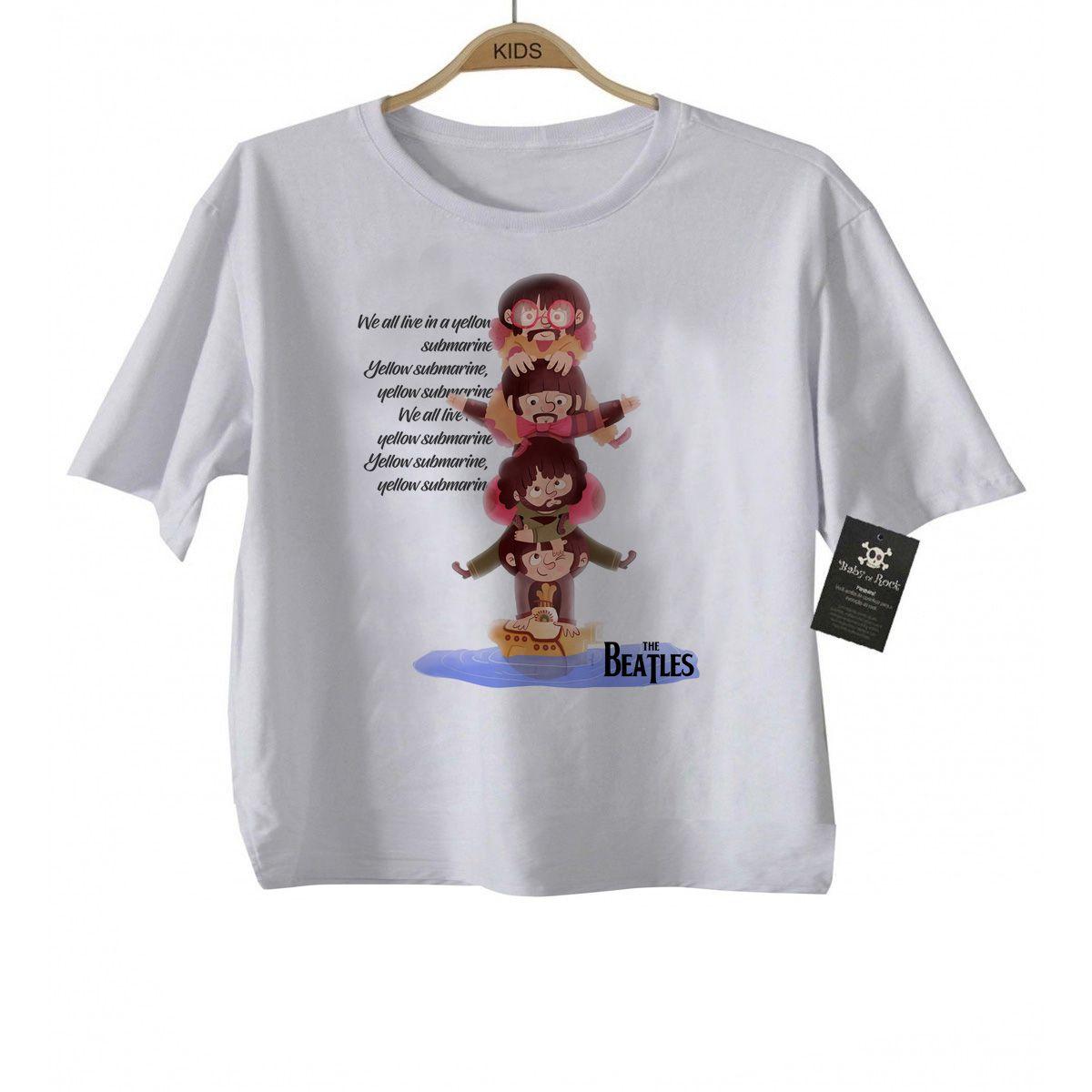 Camiseta de Rock infantil Beatles Submarino - White  - Baby Monster S/A