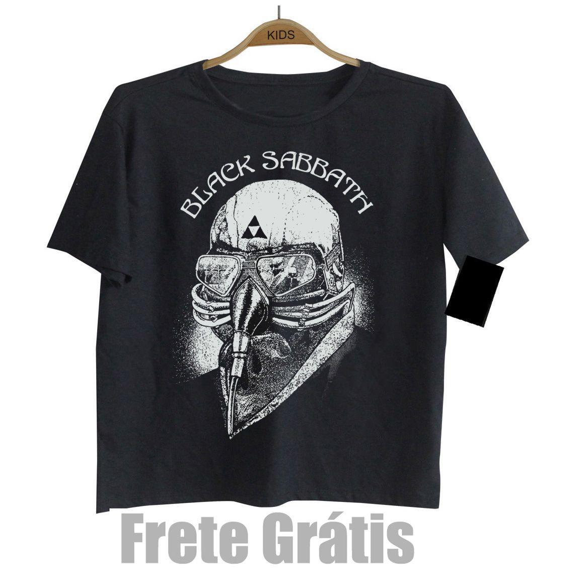 Camiseta de Rock Infantil -  Black Sabbath - Dark Tshirt - Black  - Baby Monster S/A