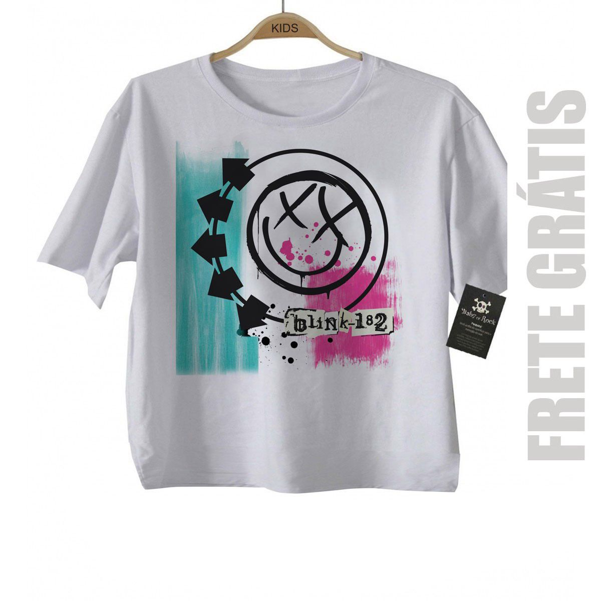 Camiseta de Rock infantil Blink 182 - White  - Baby Monster S/A
