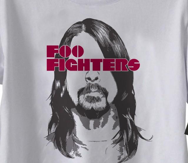 Camiseta de Rock Infantil - Foo fighters - White  - Baby Monster - Body Bebe