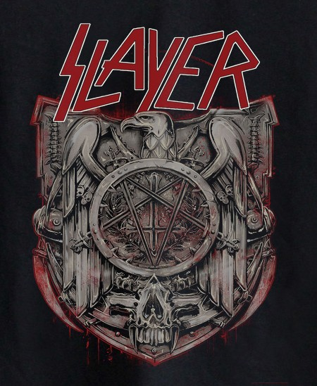 Camiseta de Rock Infantil -  Slayer - Black  - Baby Monster - Body Bebe