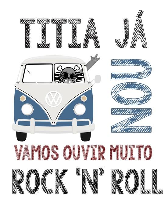 Camiseta de Rock Infantil -  Titia já Kombinou - White  - Baby Monster S/A
