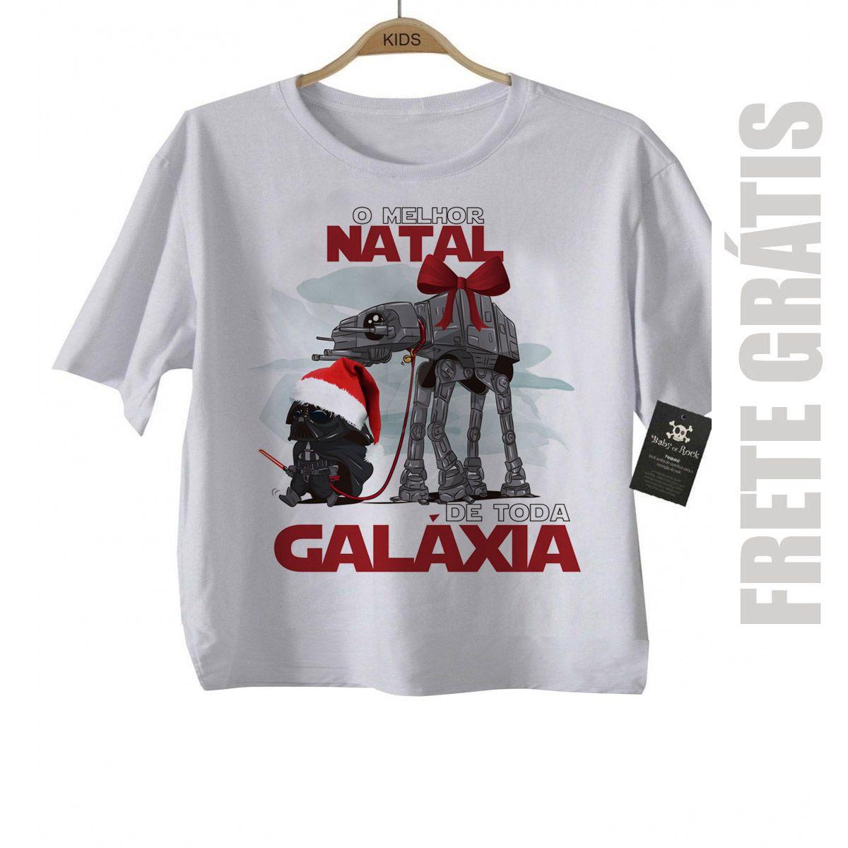 Camiseta de Rock Natal -  Star Wars - White  - Baby Monster - Body Bebe