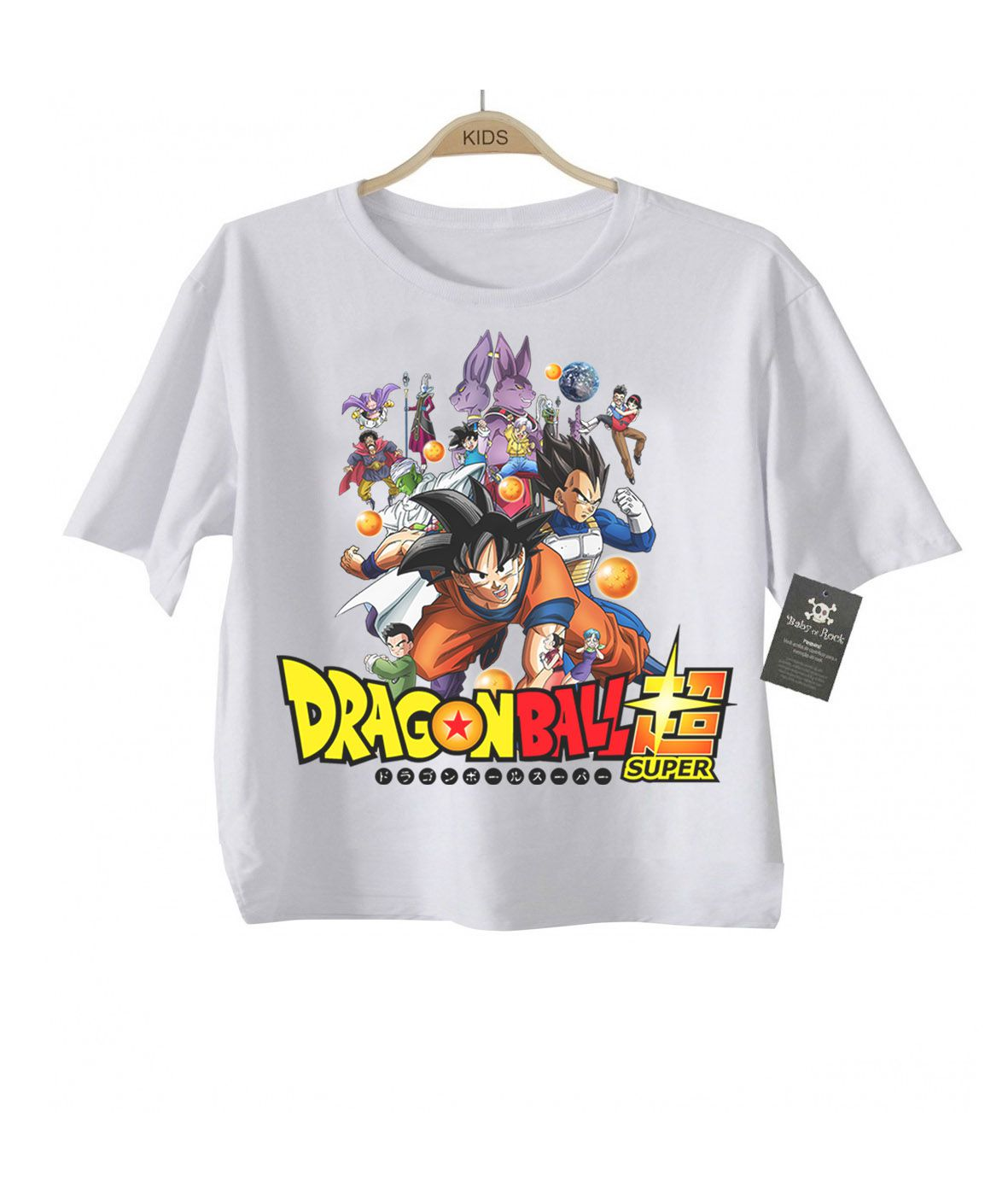 Camiseta Dragon Ball - Dragon Ball Super - White  - Baby Monster - Body Bebe