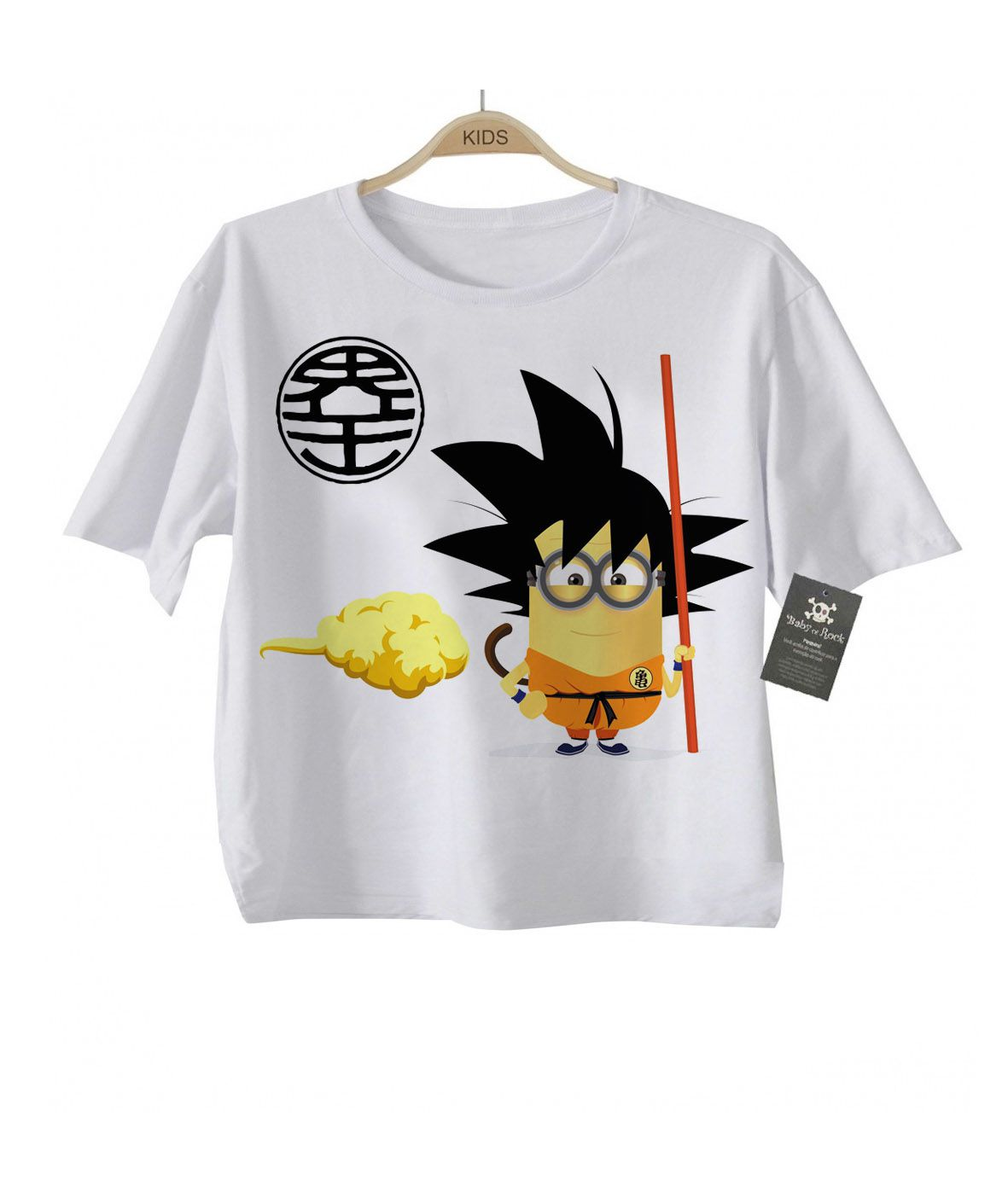 Camiseta Dragon Ball - Goku Minion - White  - Baby Monster S/A