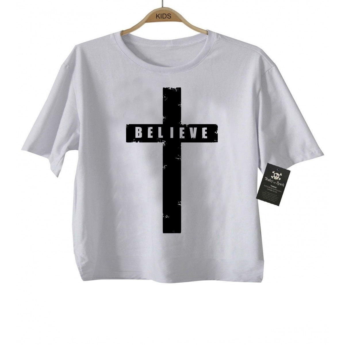Camiseta  Gospel Believe - White  - Baby Monster - Body Bebe