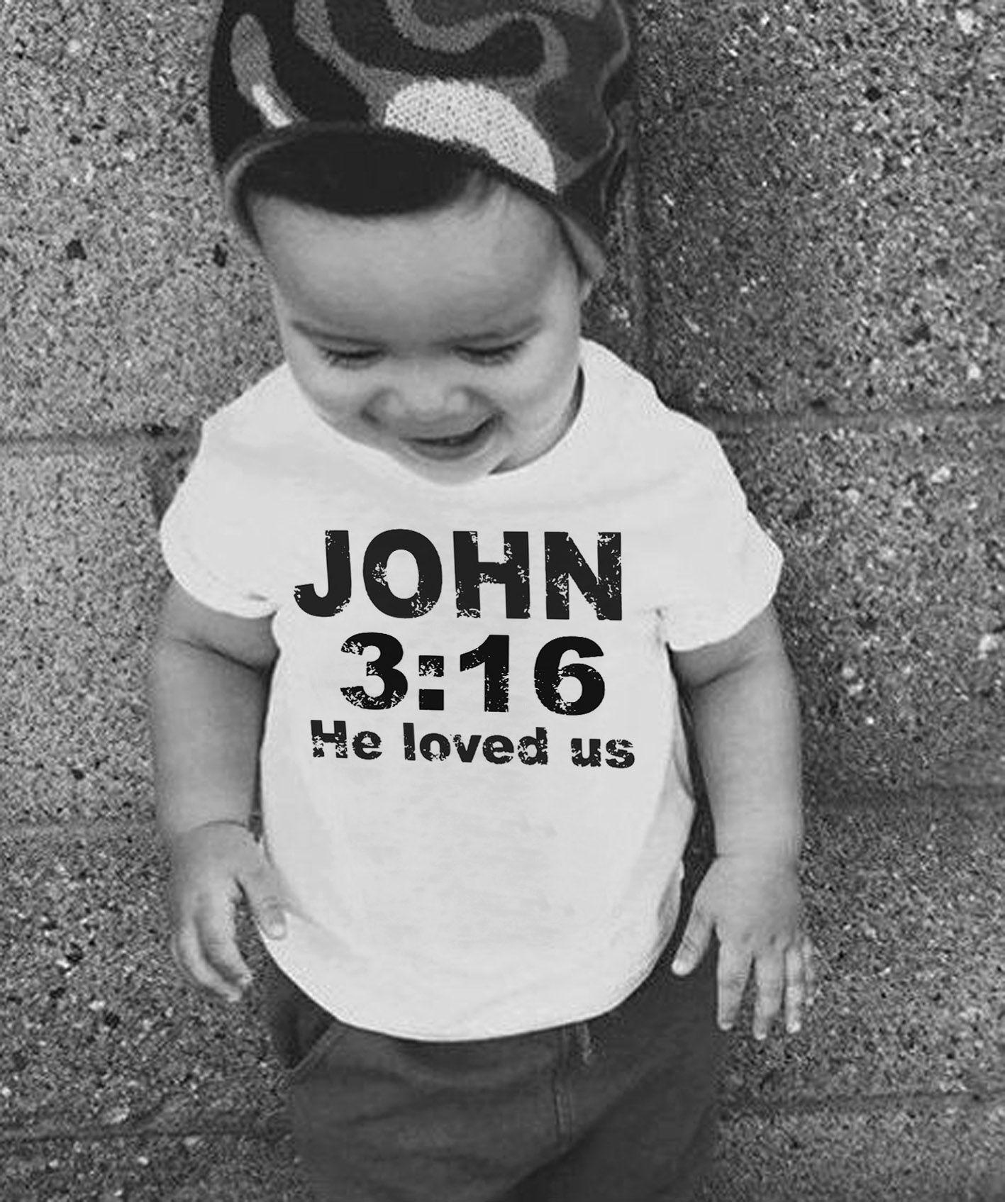 Camiseta  Gospel John 3:16  - White  - Baby Monster - Body Bebe