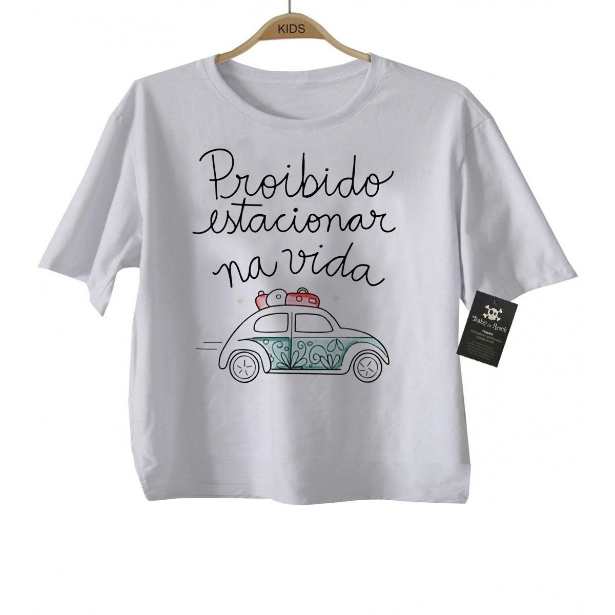 Camiseta  Gospel Proibido Estacionar na Vida - White  - Baby Monster - Body Bebe