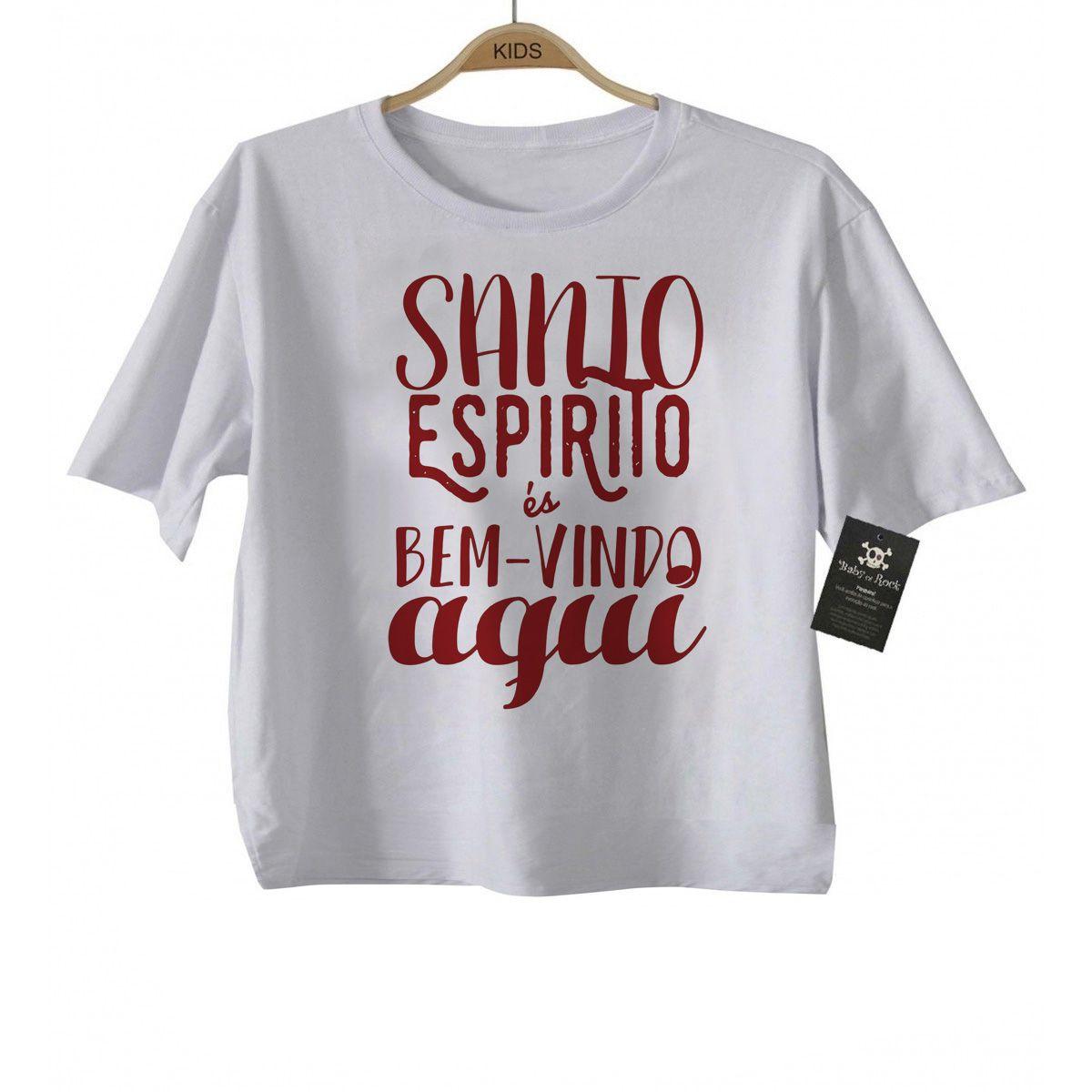 Camiseta  Gospel Santo Espírito  - White  - Baby Monster S/A