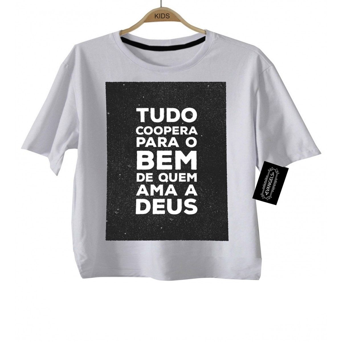 Camiseta  Gospel Tudo Coopera - White - Baby Monster S/A
