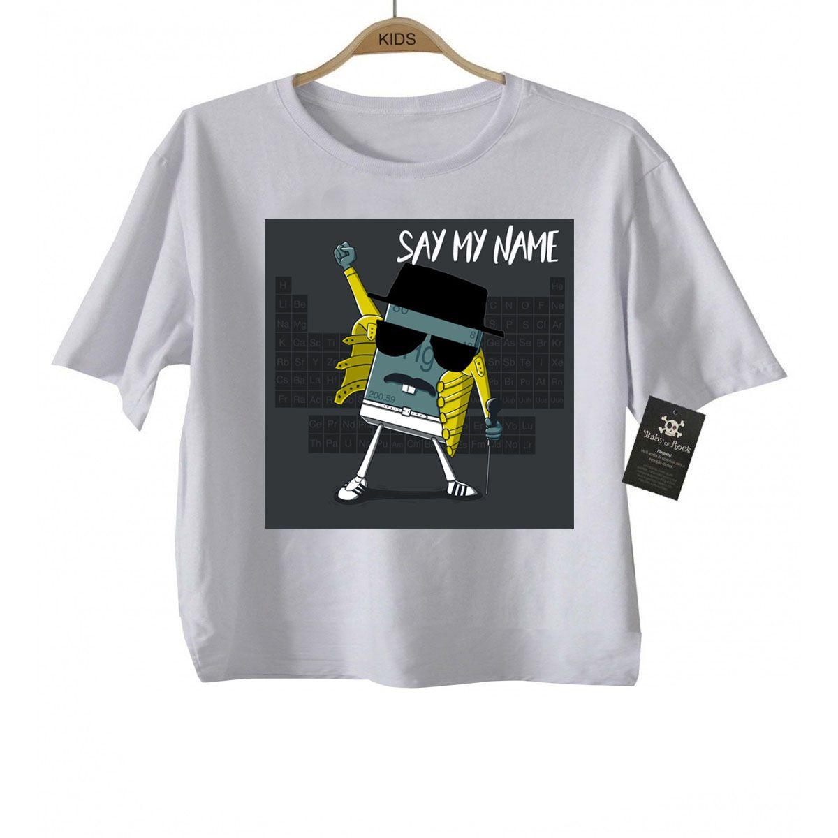 Camiseta Infanitl Baby Freddy Mercury Queen Heisenberg  - Caricato - White  - Baby Monster S/A