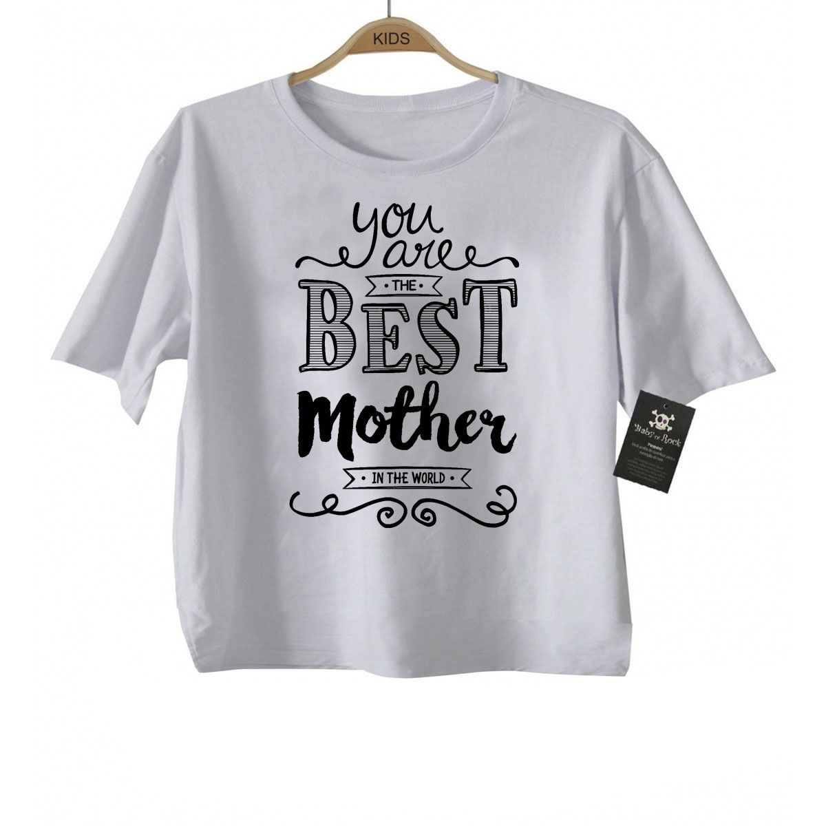 Camiseta Infantil A Melhor Mãe do Mundo- White  - Baby Monster - Body Bebe