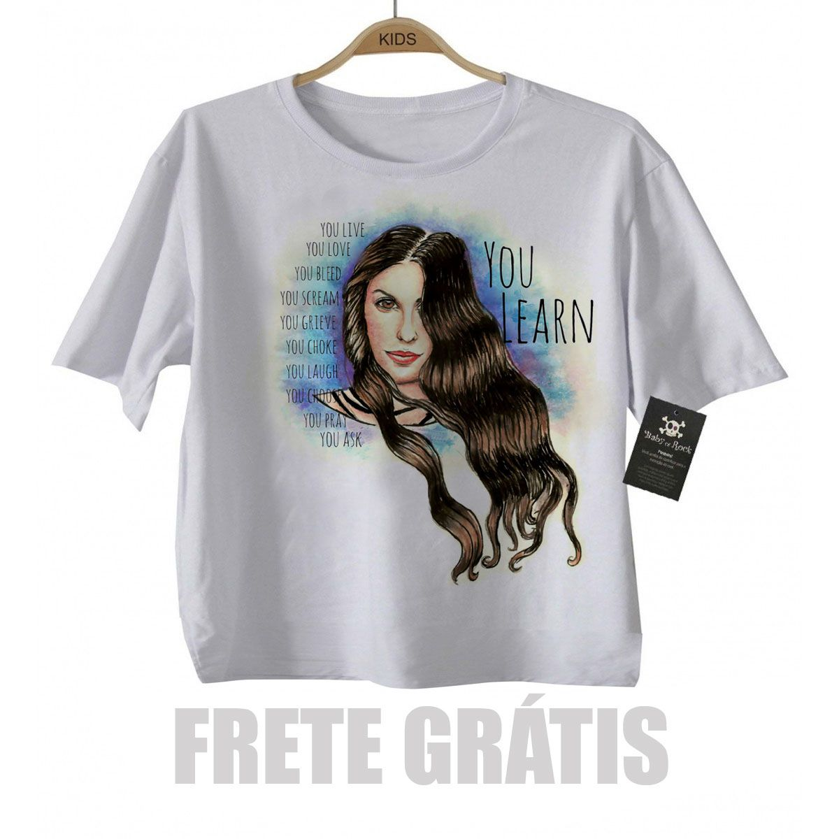 Camiseta Infantil  Alanis Morrissete  - White  - Baby Monster S/A