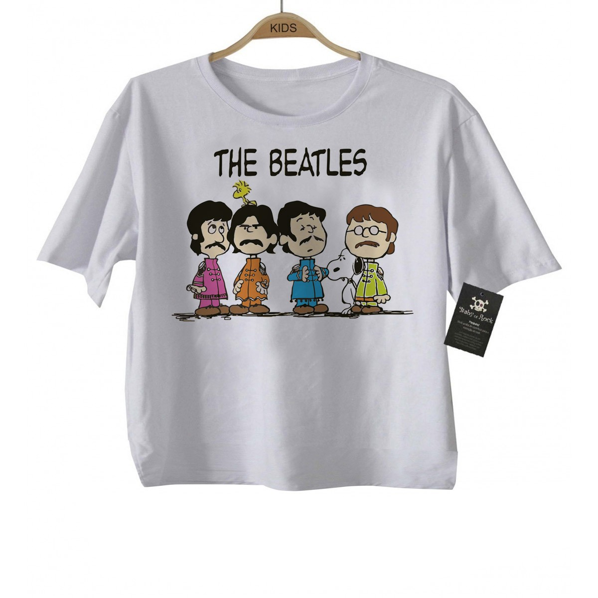 Camiseta  Infantil Beatles - Snoopy - White  - Baby Monster S/A