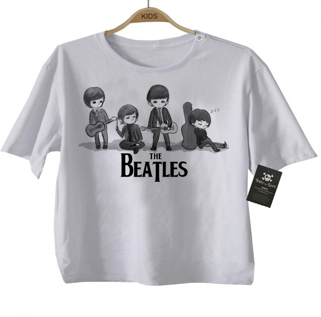 Camiseta Infantil - Beatles - White  - Baby Monster S/A