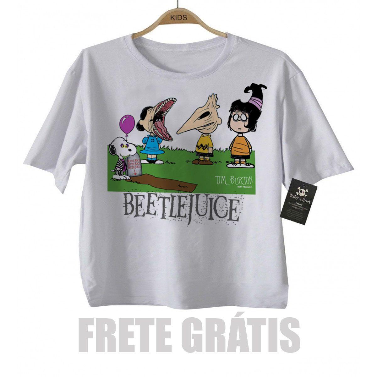 Camiseta Infantil  Beetlejuice, Os Fantasmas se divertem  - Baby Monster S/A