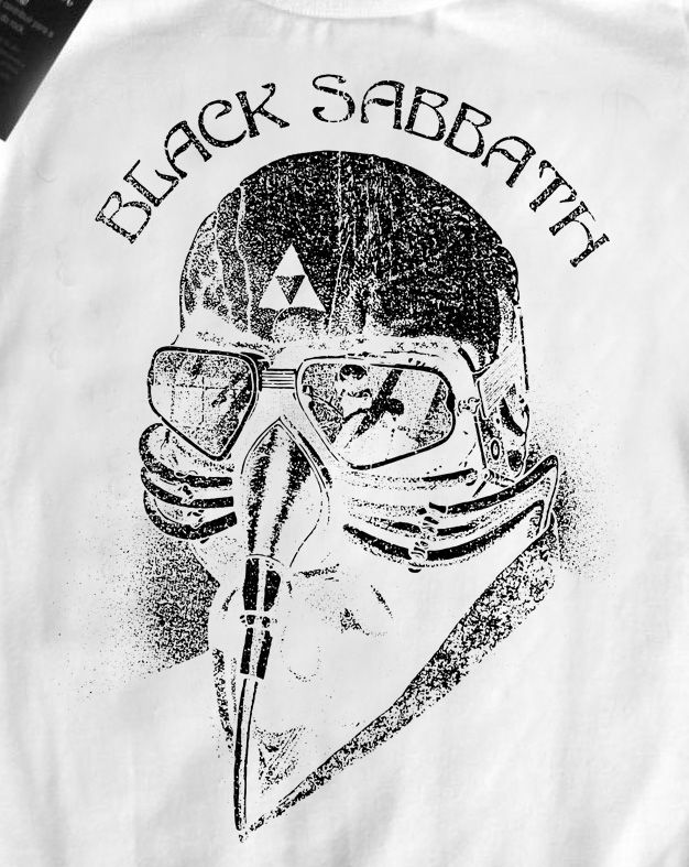 Camiseta Infantil  Black Sabbath - White Mascará  - Baby Monster - Body Bebe