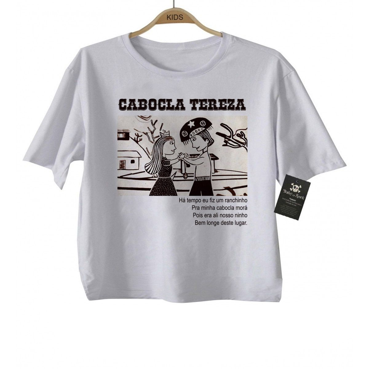 Camiseta Infantil Cabocla Tereza - White  - Baby Monster - Body Bebe