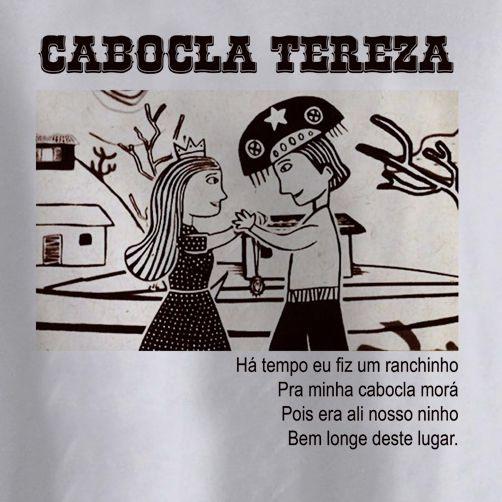 Camiseta Infantil Cabocla Tereza - White  - Baby Monster S/A