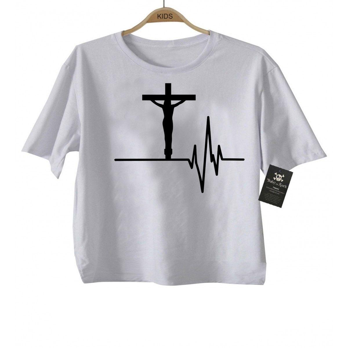Camiseta Infantil Cristã Jesus Eletro  - White -  - Baby Monster S/A
