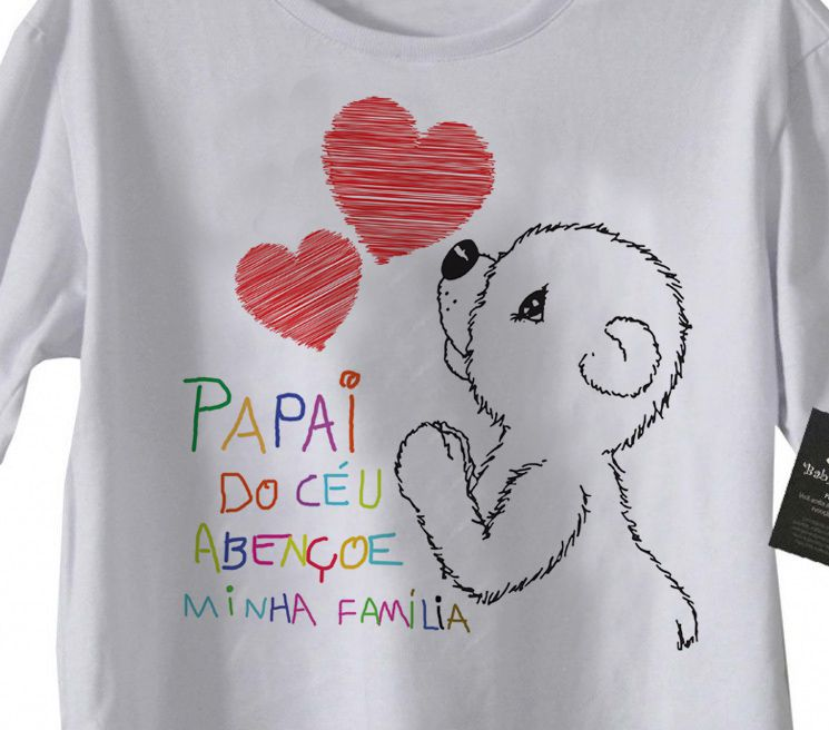 Camiseta Infantil Cristã - Papai do Céu Abençoe Minha Familia - White  - Baby Monster - Body Bebe